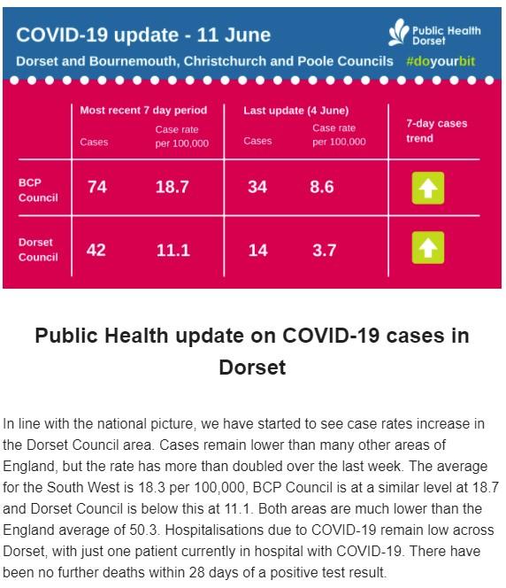 Copy of Public Health Dorset's COVID case records